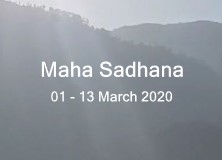 Maha Sadhana in March 2020